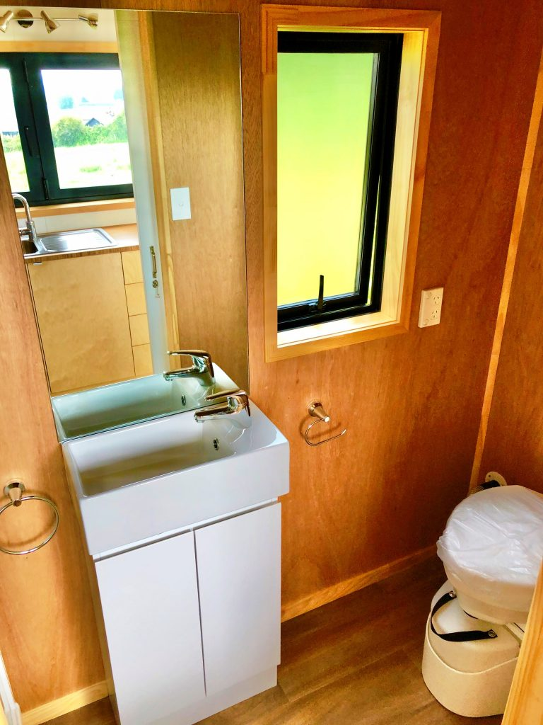 Tiny Home Bathroom, Composting Toilet