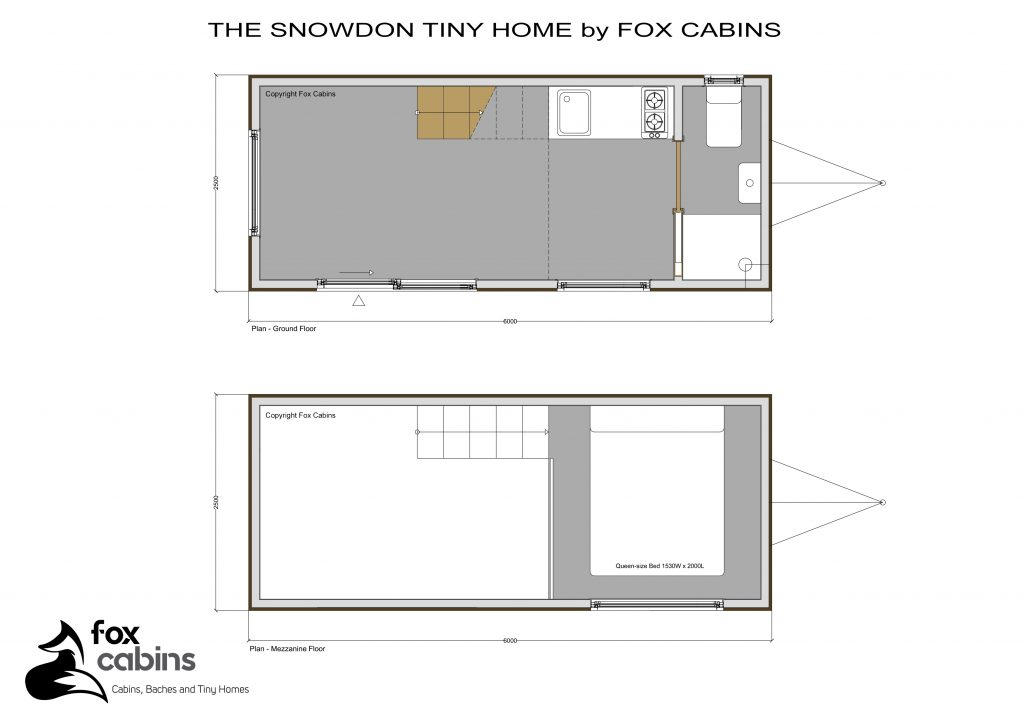 Snowdon Tiny Home by Fox Cabins, Plan